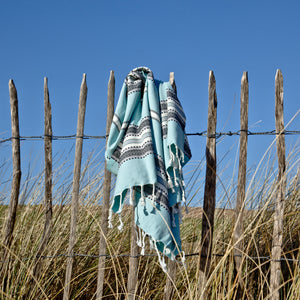 Maavi Turkish Cotton  Hammam Beach Towel Sorrento Aqua
