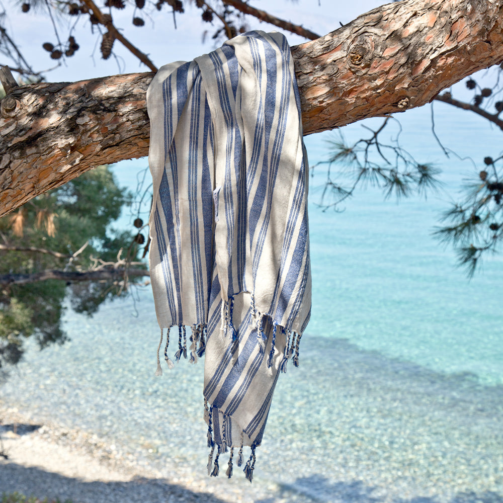 Samos Turkish Cotton Hammam Beach Towel