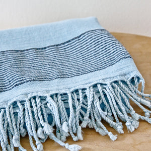 Patara Sky Blue Maavi Turkish Hammam Beach Towel
