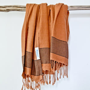Patara Terracotta Maavi Turkish Hammam Beach Towel