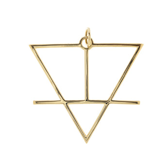 Alchemical Earth Pendant (Gold Plated) - Fiyah Jewellery