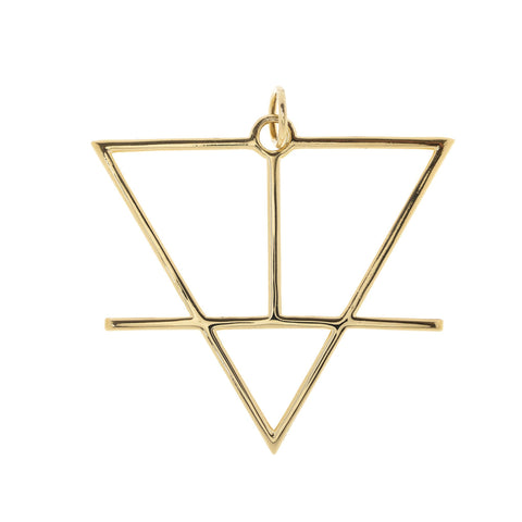 Alchemical Earth Pendant (Gold Plated) - FIYAH.fr