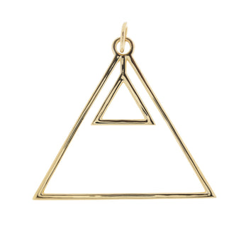 Alchemical Fire Pendant (Gold Plated) - Fiyah Jewellery