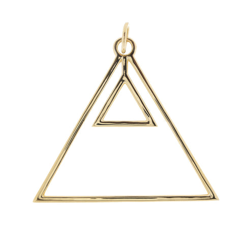 Alchemical Fire Pendant (Gold Plated) - FIYAH.fr