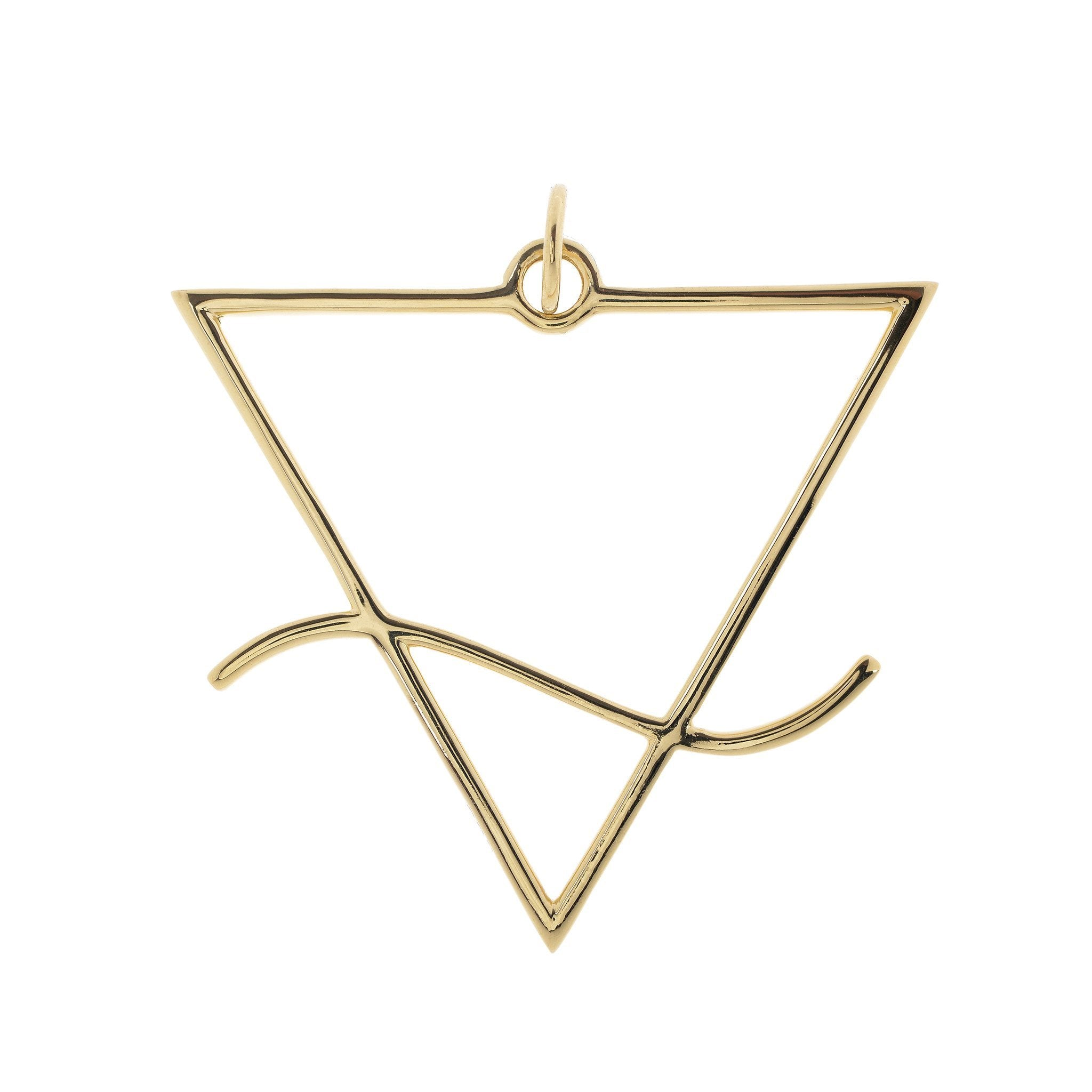 Alchemical Water Pendant (Gold Plated) - FIYAH.fr