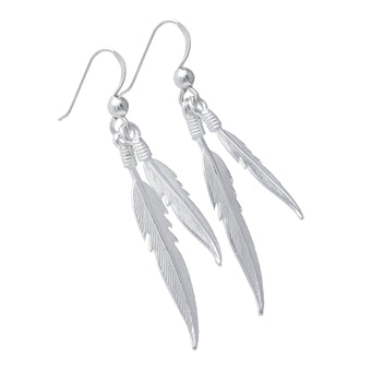 Dual Plume Earrings - Fiyah Jewellery - 1