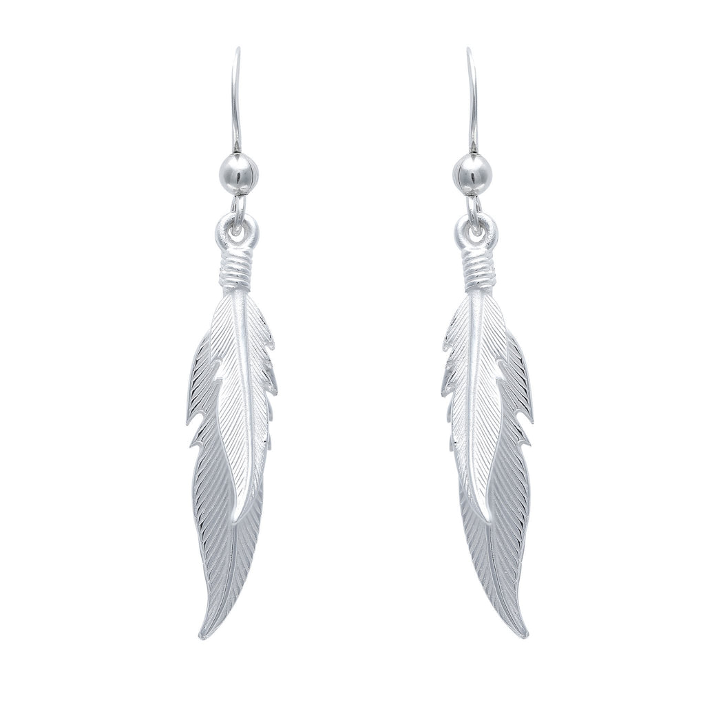 Dual Plume Earrings - Fiyah Jewellery - 2