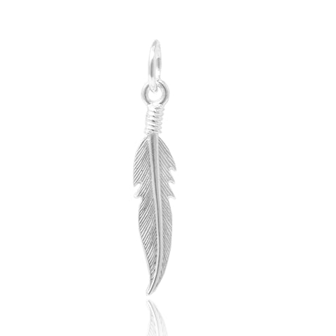 Pendentif Plume solitaire - FIYAH.fr
