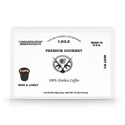 12 Pack Single Serve Coffee Capsules - Veteran Support Store