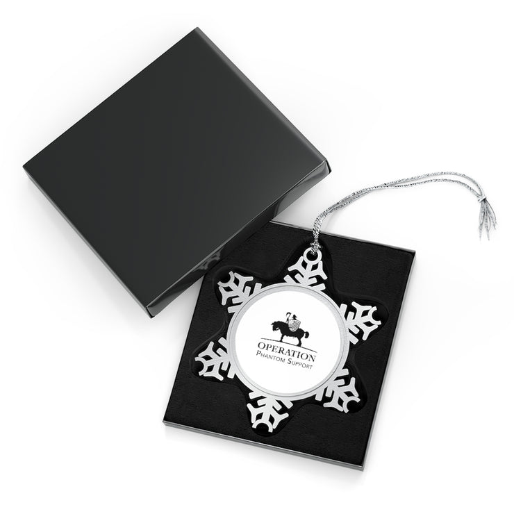 Pewter Snowflake Ornament - Veteran Support Store