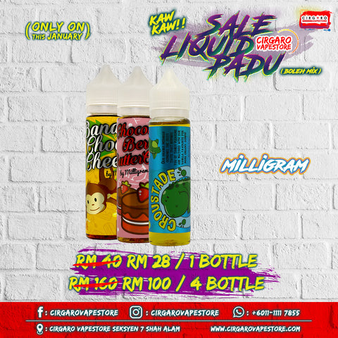 Miligram E Liquid E juice Cheap Wholesale Murah