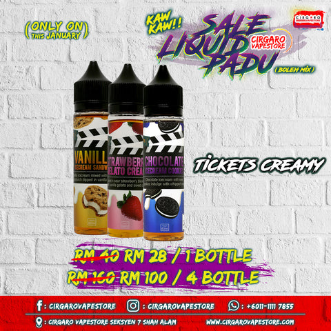 Tickets Creamy Liquid Murah