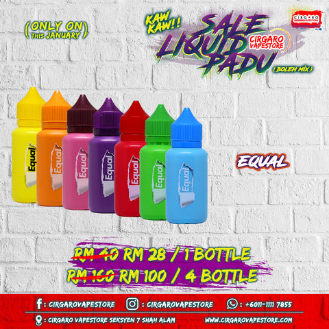equal e liquid e juice ready stock cheap murah online shah alam