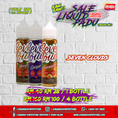 Seven clouds E Liquid E Juice Vape Wholesale Price Cheap Ready Stock