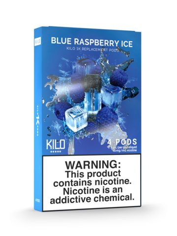 KILO 1K BLUE RASPBERRY ICE PODS