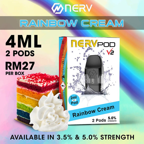 Nerv Pod Mini Rainbow Cream