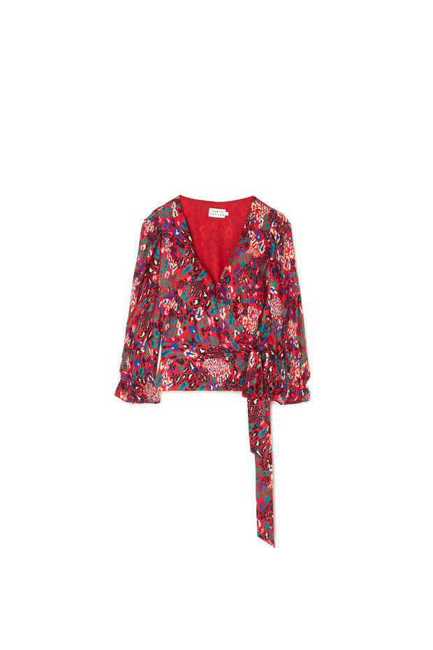 Tanya Taylor Kaylee Top Red Leopard