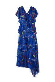 Tanya Taylor Blue Janelle Dress