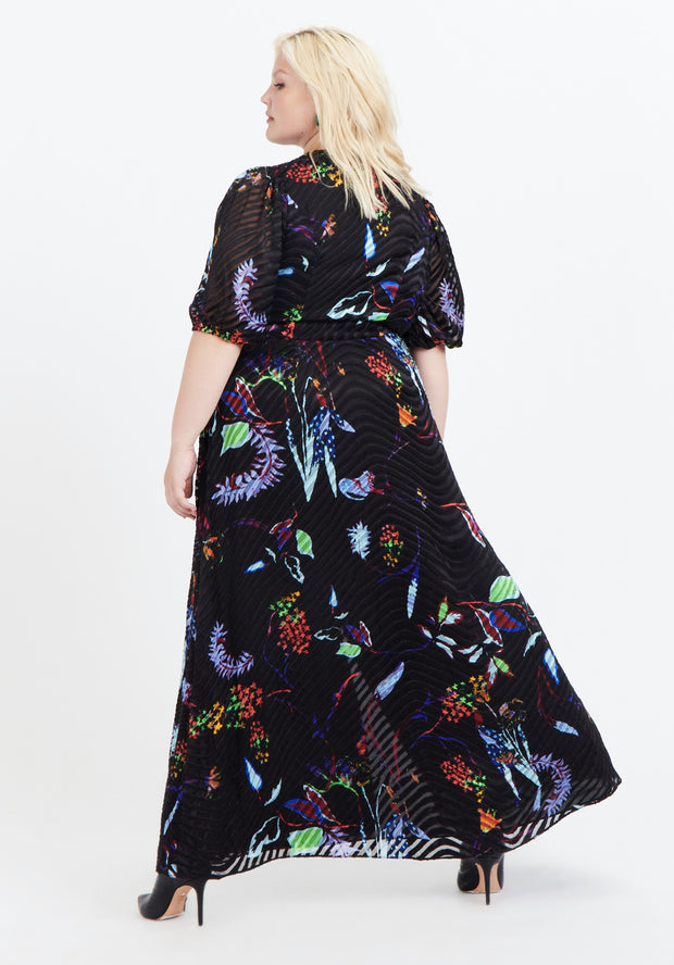 Tanya Taylor Back View Black Floral Ariela Dress