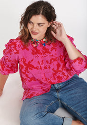 Tanya Taylor Dominique Top Pink