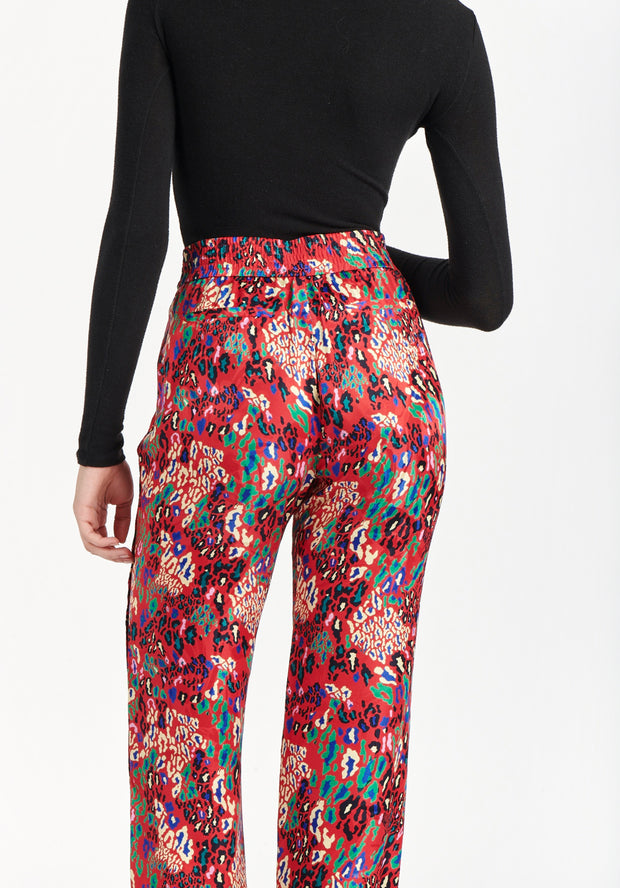 Tanya Taylor Jacob Pant Red Leopard