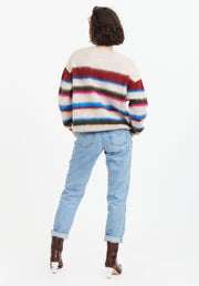 Tanya Taylor Back View Stripe Sweater