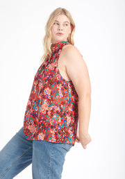 Tanya Taylor Kendall Top Red Leopard