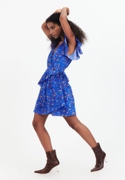 Tanya Taylor Blue Floral Madelena Dress