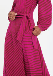 Tanya Taylor Pink Zebra Marcela Dress