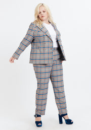 Tanya Taylor Grey Plaid Melena Jacket
