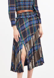 Tanya Taylor Plaid and Gold Reyna Skirt