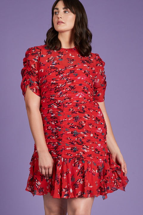 Tanya Taylor Carti Dress in Plus Size - Front View