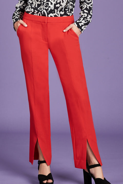 Tanya Taylor Delta Pant in Red - Front View