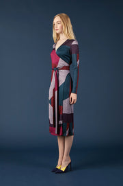 Tanya Taylor Colorblock Wrap Dress - Side View