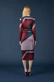Tanya Taylor Colorblock Wrap Dress - Back View