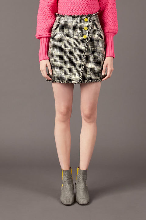 Tanya Taylor Monti Tweed Mini Skirt - Front View