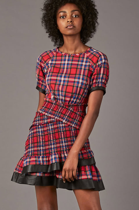 Tanya Taylor Nicole Plaid Dress - Zoom View