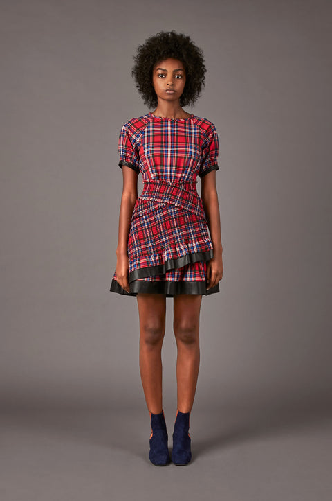 Tanya Taylor Nicole Plaid Dress - Front View