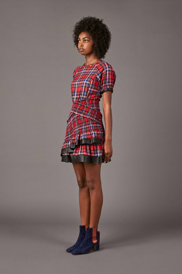 Tanya Taylor Nicole Plaid Dress - Side View