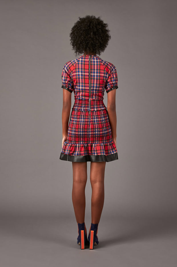 Tanya Taylor Nicole Plaid Dress - Back View