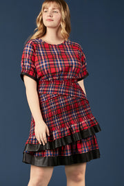 Tanya Taylor Nicole Plaid Dress, Extended - Zoom View