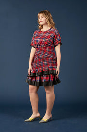 Tanya Taylor Nicole Plaid Dress, Extended - Side View