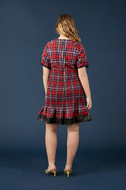 Tanya Taylor Nicole Plaid Dress, Extended - Back View