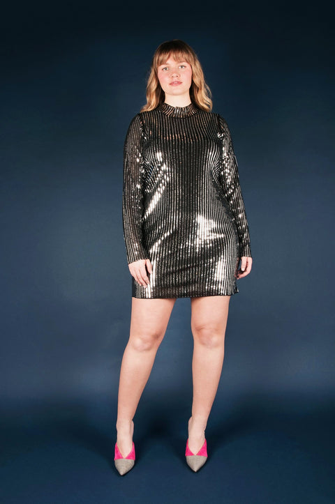 Tanya Taylor Penelope Dress in Sequin, Plus Size - Front
