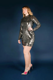 Tanya Taylor Penelope Dress in Sequin, Plus Size - Side
