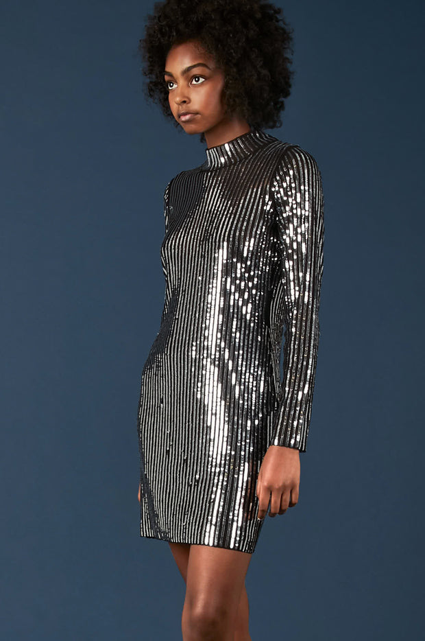 Tanya Taylor Penelope Dress in Sequin - Zoom View