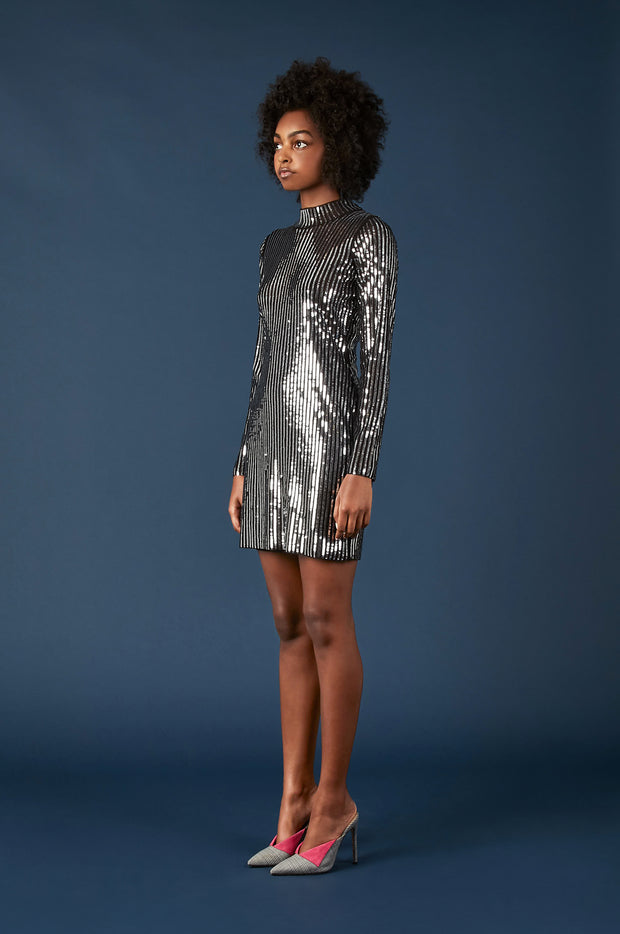 Tanya Taylor Penelope Dress in Sequin - Side View