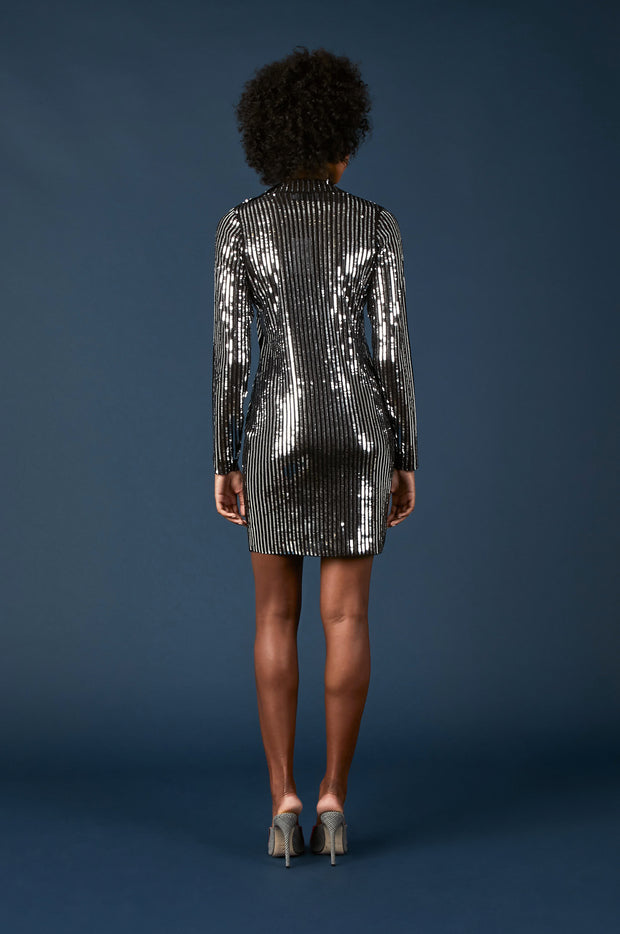 Tanya Taylor Penelope Dress in Sequin - Back View