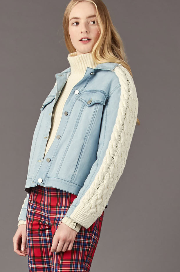 Tanya Taylor Percy Jean Jacket - Zoom View