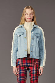 Tanya Taylor Percy Jean Jacket - Front View